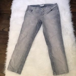 Free People gray mineral wash corduroy pants 28